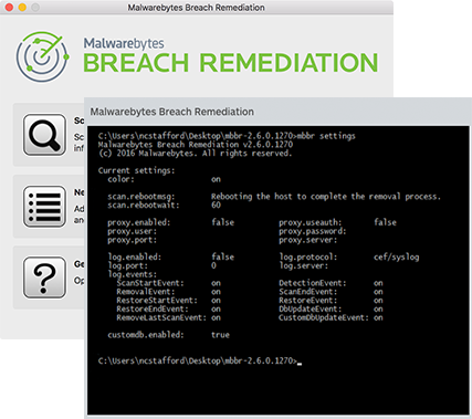 Malwarebytes Breach Remediation Screenshots