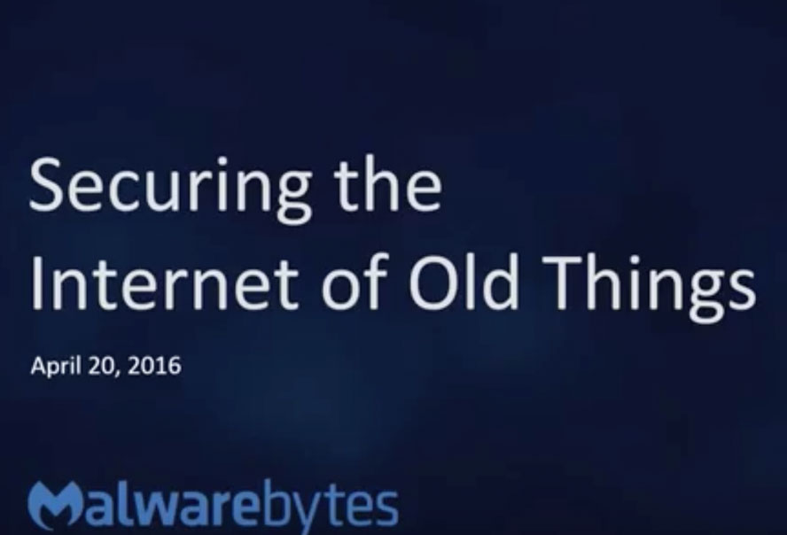 Securing the Internet of Old Things (IoOT)
